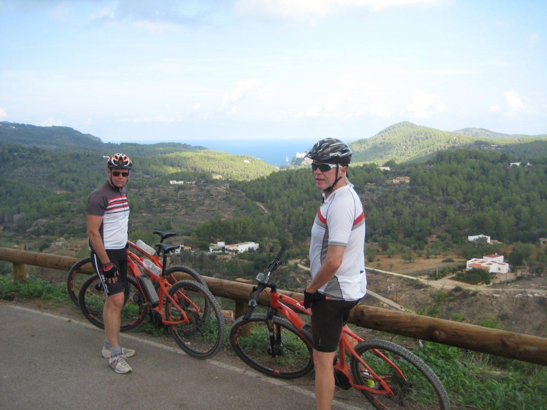 Mountain biking with an electric bike